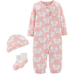 Carters Baby Girls 3-pc. Butterfly Take Me Home Layette Set
