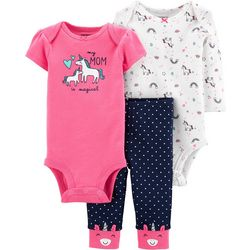 Carters Baby Girls 3-pc. Mom Is Magical Unicorn Layette Set