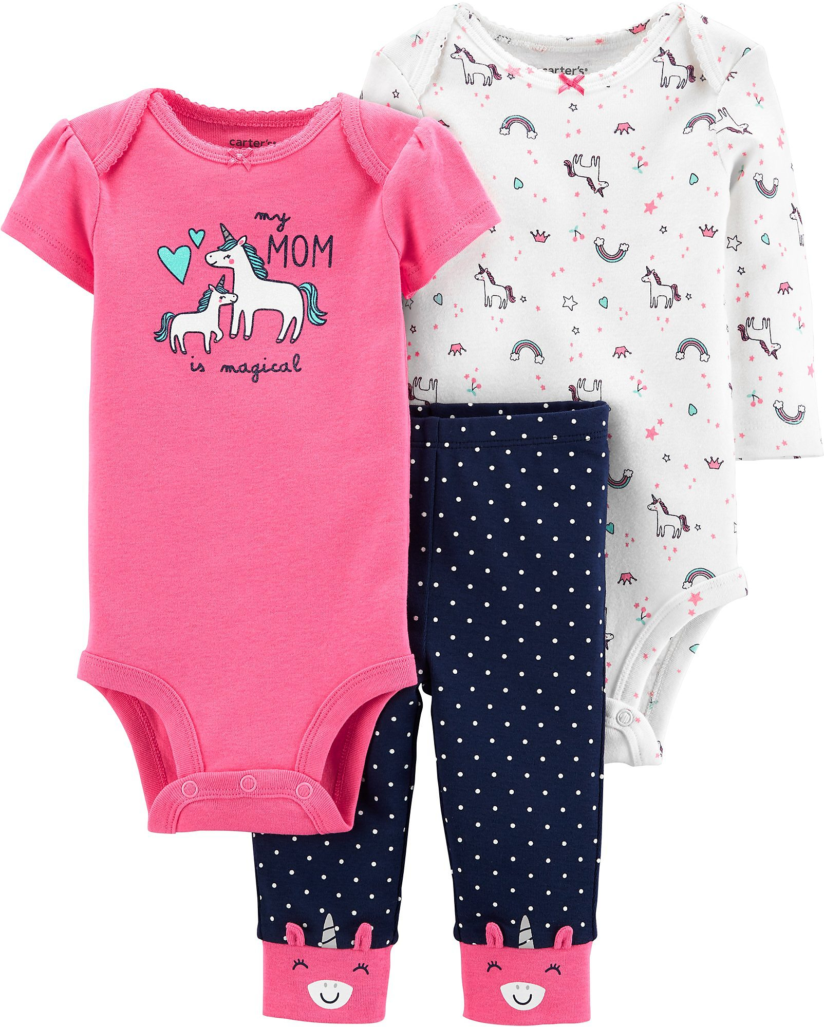 Carters Baby Girls 3-pc Baby Bunny Layette Set