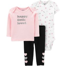 537f8bf25 Carters Baby Girls 3-pc. Happy Little Loved Layette Set