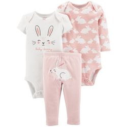 Carters Baby Girls 3-pc. Baby Bunny Layette Set