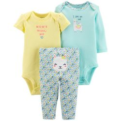 Carters Baby Girls 3-pc. Mom's Mini Me Layette Set