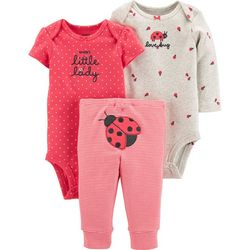 Carters Baby Girls 3-pc. Ladybug Layette Set