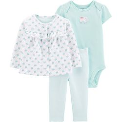 Carters Baby Girls 3-pc. Elephant Cardigan Layette Set