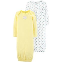 Carters Baby Girls 2-pk. Elephant & Floral Sleeper Gowns