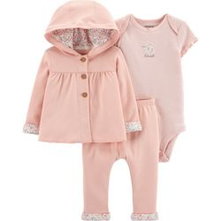 Carters Baby Girls 3-pc. Loved Bunny Layette Set