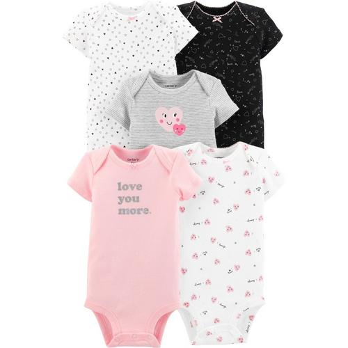 Bodysuit /& Pants Set ~ Daddy Loves Me ~ Hearts ~ Carter/'s Baby Girl T-Shirt