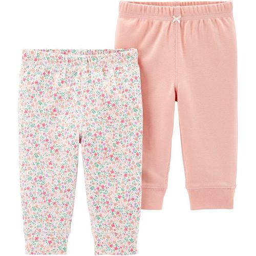 5ec54b02a1bf2 Carters Baby Girls 2-pk. Floral & Solid Pull-On Pants | Bealls Florida