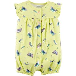 Carters Baby Girls Butterfly Bow Bubble Romper