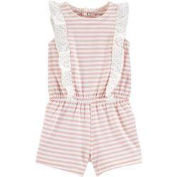 Carters Baby Girls Stripe Print Ruffle Romper