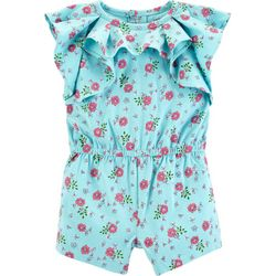 Carters Baby Girls Floral Ruffle Romper