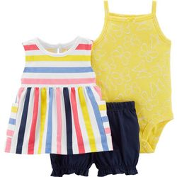 Carters Baby Girls 3-pc. Stripe Butterfly Layette Set