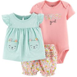 Carters Baby Girls 3-pc. Sweet Girl Floral Layette Set