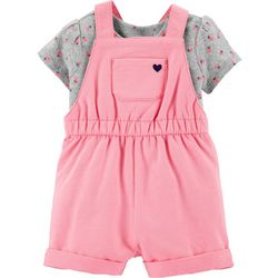 Carters Baby Girls Strawberry Shortalls Set