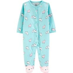 Carters Baby Girls Llama Feet Snug Fit Footie Pajamas