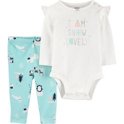 Carters Baby Girls Snow Lovely Bodysuit Set
