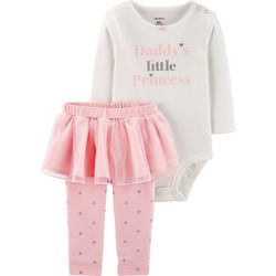 Carters Baby Girls Daddy's Little Princess Tutu Bodysuit Set