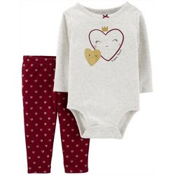 Carters Baby Girls Happy Heart Long Sleeve Bodysuit