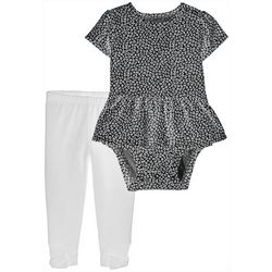 Carters Baby Girls Leopard Print Ruffle Bodysuit Set