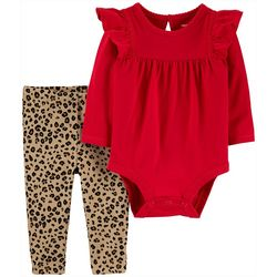 Carters Baby Girls Leopard Print Leggings & Bodysuit Set