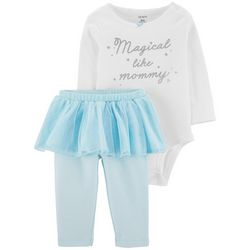 Carters Baby Girls Magical Like Mommy Tutu Bodysuit Set