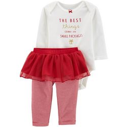 Carters Baby Girls Small Packages Tutu Bodysuit Set