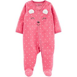 Carters Baby Girls Polka Dot Bear Snug Fit Footie Pajamas