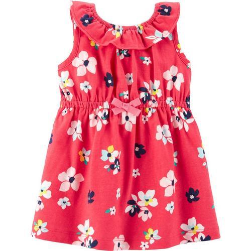 84e10e2b5821d8 Carters Baby Girls Floral Popover Dress