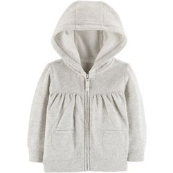 Carters Baby Girls Heathered Hooded Jacket