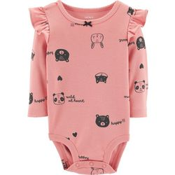 Carters Baby Girls Wild At Heart Ruffle Bodysuit