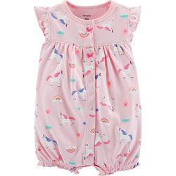 Carters Baby Girls Unicorn Snap-Up Romper
