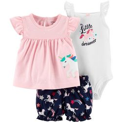 Carters Baby Girls 3-pc. Little Dreamer Layette Set