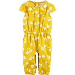 Carters Baby Girls Floral Print Jumpsuit