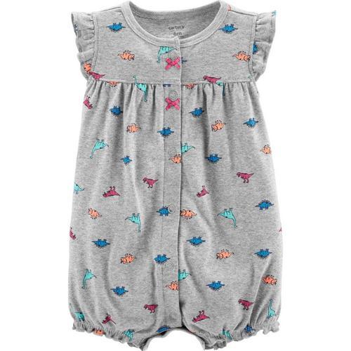 d4790af77f68 Carters Baby Girls Dinosaur Romper