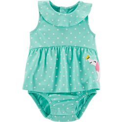 Carters Baby Girls Polka Dot Sunsuit