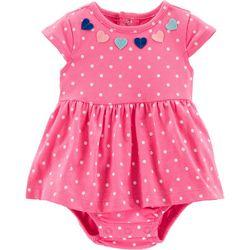 9b8122244c4 Carters Baby Girls Polka Dot Heart Sunsuit