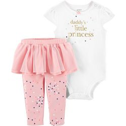 Carters Baby Girls Daddy's Princess Tutu Bodysuit Set