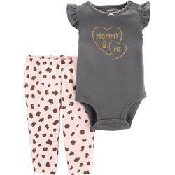 Carters Baby Girls Mommy & Me Bodysuit Set