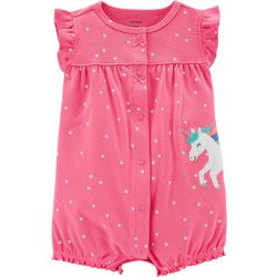 Carters Baby Girls Star Unicorn Romper