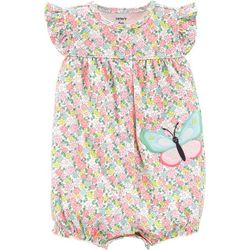 Carters Baby Girls Floral Butterfly Romper