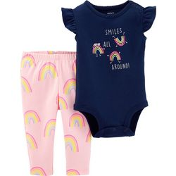Carters Baby Girls Smiles All Around Bodysuit Set