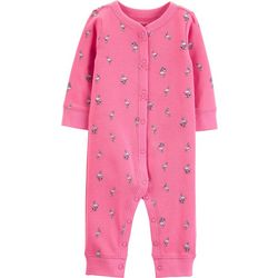 Carters Baby Girls Flamingo Bow Jumpsuit