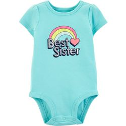 Carters Baby Girls Best Sister Rainbow Bodysuit