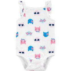 Carters Baby Girls Kitty Cat Sleeveless Bodysuit