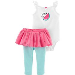 Carters Baby Girls Hello Cutie Watermelon Tutu Bodysuit