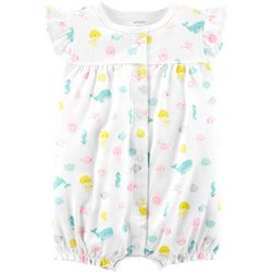 Carters Baby Girls Whale Romper