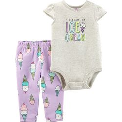 Carters Baby Girls I Scream For Ice Cream Bodysuit Set