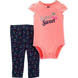 Carters Baby Girls Super Sweet Cherry Bodysuit Set