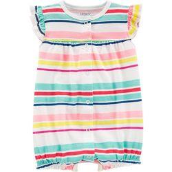 Carters Baby Girls Rainbow Stripe Heart Romper
