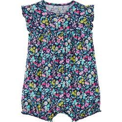 Carters Baby Girls Flower Garden Romper